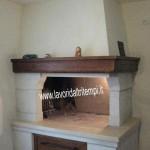 caminetto ad angolo da cottura in muratura