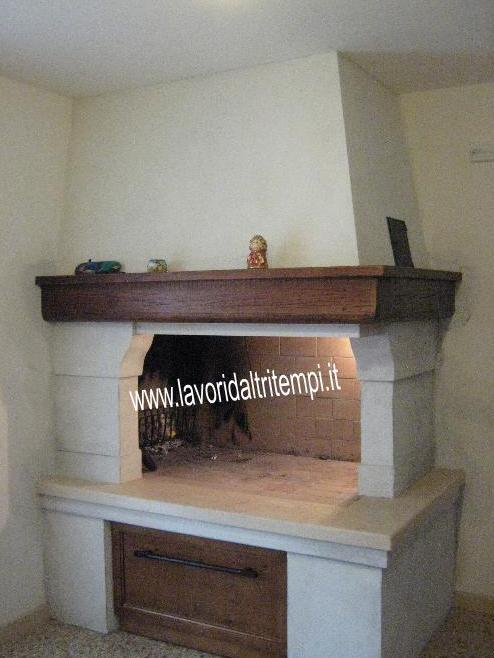 caminetto ad angolo da cottura in muratura   Spazzacamino Caminetti ...