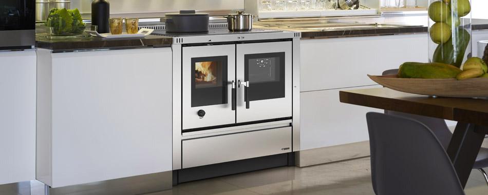 Cucina a legna da incasso da 90 cm Padova Nordica/Extraflame