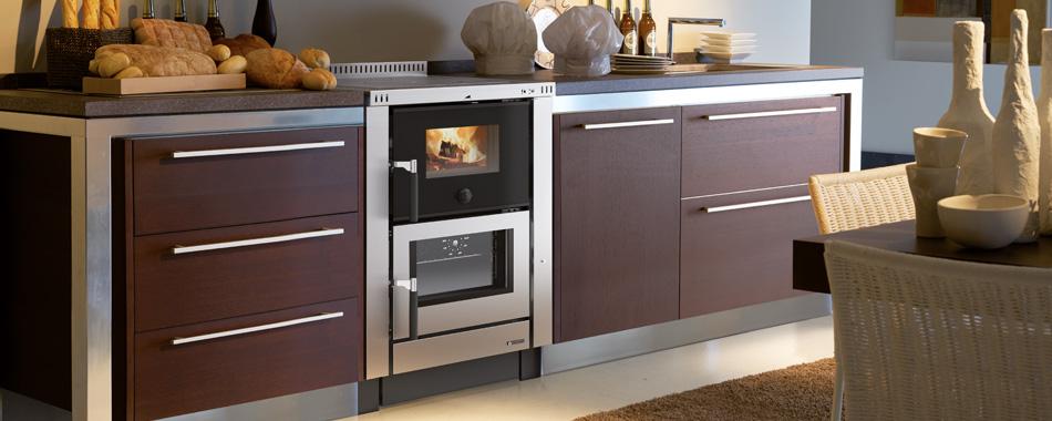 Cucina a legna da incasso da 60 cm vicenza spazzacamino caminetti su misura canne fumarie - Forno a legna cucina moderna ...