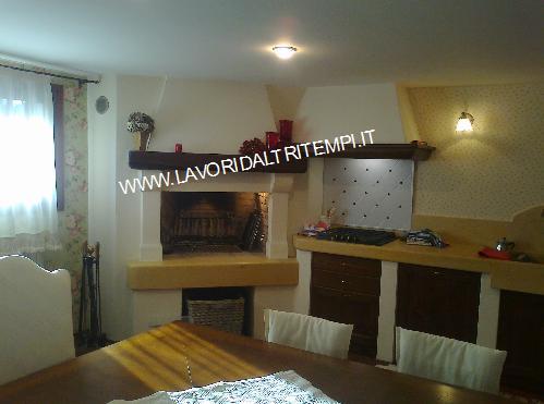 Caminetto cottura con cucina in muratura | Spazzacamino ...